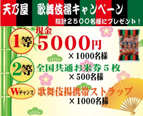 天乃屋 歌舞伎揚キャンペーン