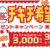 日本ハム チキチキボーンプレゼントキャンペーン!QUOカード3,000円分が当たる!
